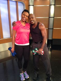 Nadia Murdock Fit with Antwan Lewis for the show Good Day Street Talk on Fox 5 NY.