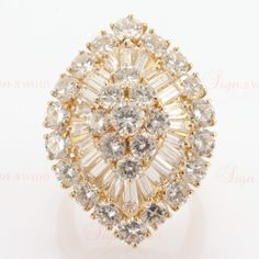 VAN CLEEF & ARPELS Diamond Marquise Shaped Ring | From a unique collection of vintage cluster rings at http://www.1stdibs.com/jewelry/rings/cluster-rings/