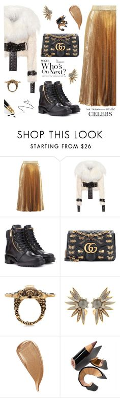 """OOTD"" by jan31 on Polyvore featuring Christopher Kane, Monse, Balmain, Gucci, Oscar de la Renta, Kevyn Aucoin, Fountain and Bobbi Brown Cosmetics"