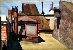 "Edward Hopper, ""My Roof"", 1928"