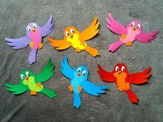 Bird Paper Craft, Bird Crafts, Paper Art, Paper Crafts, Spring Crafts For Kids, Summer Crafts, Art For Kids, Class Decoration, School Decorations
