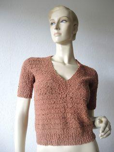 Pullover & Pullunder - Sommer - Kurzarm - Pulli, Größe 36 - ein Designerstück von Na-nett-e bei DaWanda