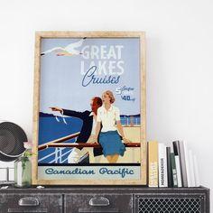Vintage Canada Travel Poster: Canadian Pacific by DigitalDisko