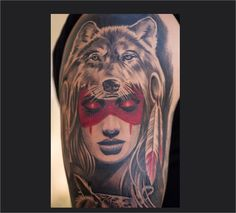 Wolf Pelt Tattoo Drawing