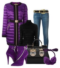"""something purple"" by atenaide86 ❤ liked on Polyvore featuring Roberto Cavalli, Versace, Valentino, Dolce&Gabbana and Moschino Cheap & Chic"
