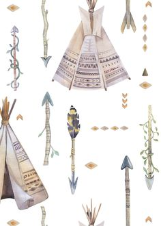 Boho tribal tee pee free printable