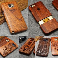 Wood Phone Case For Samsung Galaxy Note 3 4 5 S5 i9600 S6 S7 Edge Plus Cases Cover Fundas For iPhone SE 5 5S 6 6S 7 Plus Case