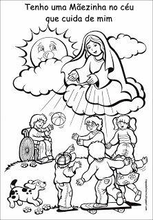 Iam Pequenos E Grandes Missionarios Desenhos De Nossa Senhora