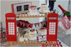London birthday party! See more party planning ideas at CatchMyParty.com!