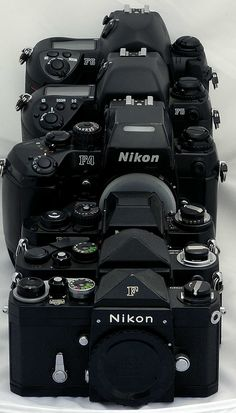 Nikon F Series F-F2-F3-F4-F5-F6...the modern collection of Nike cameras..how many do you have?