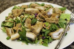 Applebee's Oriental Chicken Salad Recipe -- Made this today. Dressing is spot on, just make sure you chill it first. Used my own fried chicken, so can't vouch for this one, but it was oh so good!