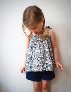 Our Kid's Gathered Summer Top Free Pattern, Easy Breezy!