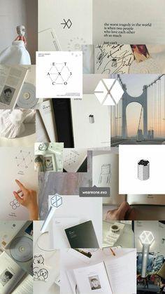 Exo Workout Plans workout plans no equipment Music Wallpaper, Aesthetic Iphone Wallpaper, Aesthetic Wallpapers, White Wallpaper, Aesthetic Backgrounds, Kpop Exo, Exo Chanyeol, Kyungsoo, Exo Memes