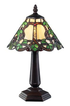 Vidonia 1 Light Mini Lamp shown in Chestnut Bronze by Z-Lite Lighting Fused Glass, Stained Glass, Traditional Table Lamps, Types Of Craft, Mini Pendant, One Light, Lamp Light, Home Furnishings, Bronze