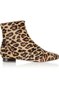 27ac423228 Charlotte Olympia - Puss In Boots Leopard-print Calf Hair Ankle Boots - Leopard  print