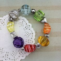 Young Women Values Bracelet  YW Values Colors Beaded by doodlebead