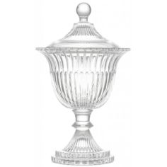 Lisbeth Dahl Crystal Glass Bonbon Jar with Foot - Lisbeth Dahl from Mollie and Fred UK