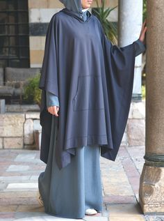 Abaya Designs, Hooded Poncho, Muslim Dress, Popular Dresses, Persephone, Hijab Outfit, Plant Decor, Satin Dresses, Stay Warm