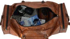 """Wenn man schon beim Tasche-packen Urlaubsgefühle verspürt, dann muss es sich bei der Reisetasche um """"Toby"""" handeln. Die schöne Reisetasche aus hochwertig verarbeitetem, braunem Ziegenleder besticht durch ihre klassische Eleganz und Platzkomfort - Weekender - Reisetasche - Gusti Leder - R28b"""