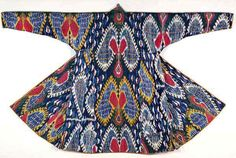 57K Jpeg Ikat coat, Eastern Turkestan, pre-1869, Robert Shaw collection, Ashmolean Museum EA X3977