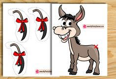 This is a Free Printable version of classic Pin the Tail on Donkey Game. You can…