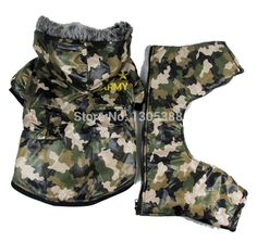 Camouflage waterproof windbreaker Style Pet dogs Coat Free Shiping By CPAM Dogs Clothing