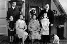 Matador, Skjern family, dear memories, family portrait, Danish tv series, photo b/w.