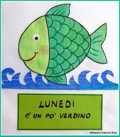 Filastrocca della settimana del pesce cambia colore Crafts For Kids, Arts And Crafts, Circle Time, Pre School, Montessori, Kindergarten, Projects To Try, Blog, Clip Art