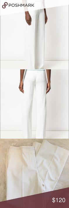 MaxMara White straight leg trousers 42/12 Beautiful crisp white trousers from MaxMara in size EU 42/ US 12. Like new! MaxMara Pants Trousers