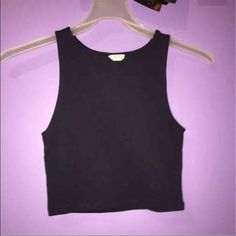 Forever 21 crop top Brand new never worn. Color: dark blue Forever 21 Tops Crop Tops