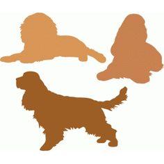 Silhouette Design Store - View Design #88368: cocker spaniel dog set