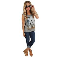 Cali Tank | Impressions Online Women's Clothing Boutique The Cali Tank is the perfect addition to your summer wardrobe!