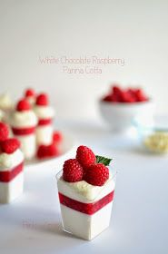 Pink Wings: White Chocolate Raspberry Panna Cotta