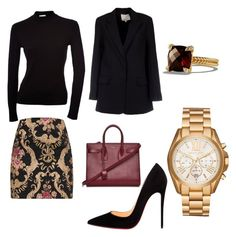 """""""office look"""" by explorer-15098277769 on Polyvore featuring Christian Louboutin, 3.1 Phillip Lim, Yves Saint Laurent, David Yurman and Michael Kors"""