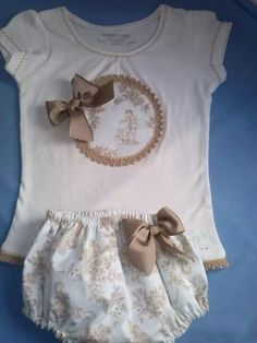 I must try to repair the onsies that have broken snaps this gave me an idea Cute Outfits For Kids, Toddler Outfits, Cute Kids, Sewing For Kids, Baby Sewing, Baby Gifts To Make, Baby Boutique, Little Girl Dresses, Baby Love