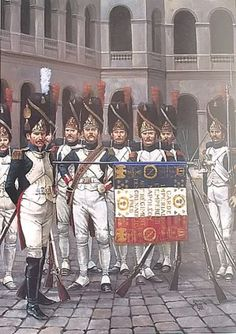 Regiment of Foot Grenadiers of the Imperial Guard. Military Art, Military History, First French Empire, Age Of Empires, British Soldier, French Army, Napoleonic Wars, Kaiser, Toy Soldiers