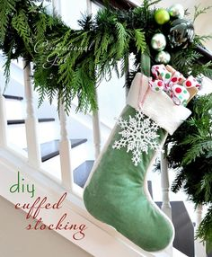 Centsational Girl » Blog Archive » DIY Cuffed Stocking {how to sew}