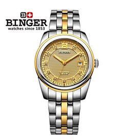 189.94$  Buy here - http://alin9h.worldwells.pw/go.php?t=1919989815 - BInger New Model Silver/Gold Men Luxury Watches Rhinestone Stainless Steel Big Watch Star Brand Fashion Beautiful Wristwatch