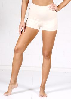 1296c60bc2eb0 Queen Bee Ronnica Organic Cotton Maternity Shorts in Nude by Queen Bee  Maternity Underwear