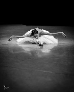Olga Smirnova rehearsing The Dying Swan photo by Jack Devant
