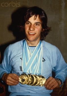 Eric Heiden With Gold Medals