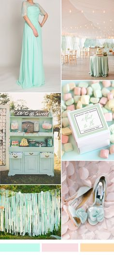 mint lace bridesmaid dress and mint wedding ideas for 2015-2016