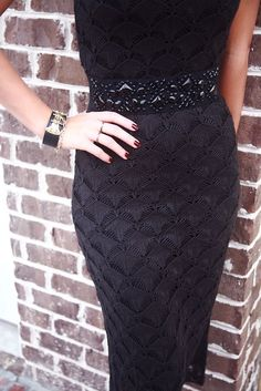 Dress Suits, Dresses, Beaded Embroidery, Knit Dress, Crochet Top, High Waisted Skirt, Crochet Patterns, Bodycon Dress, Knitting
