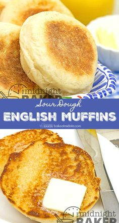 English Muffin Recipes, Homemade English Muffins, Sourdough Recipes, Bread Recipes, Cooking Recipes, Quick Bread, Cooking Time, Baking, Breakfast