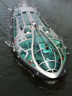 Passenger Boat for the Himiko Tokyo Boat Cruise. -Would be neat to own one for private use, could re-purpose for a unique house boat.
