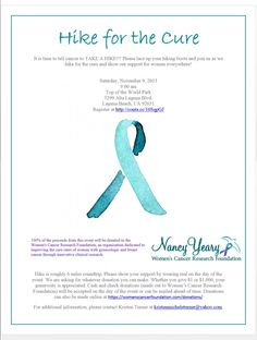 """We are brewing coffee early to serve at the Nancy Yeary Women's Cancer Research Foundation """"Hike For The Cure"""""""