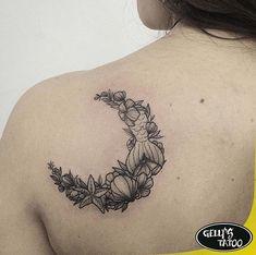 Lua moon mar concha tatuagem