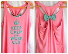 Cutest workout tank. Love the bow on the back!