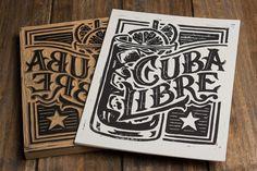 Cuba Libre  Block drucken von strawcastle auf Etsy, $9.99