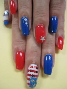 Patriotic Nails  Nail Art Manicure  アトラス トーーーク  ネイルサロン&スクール